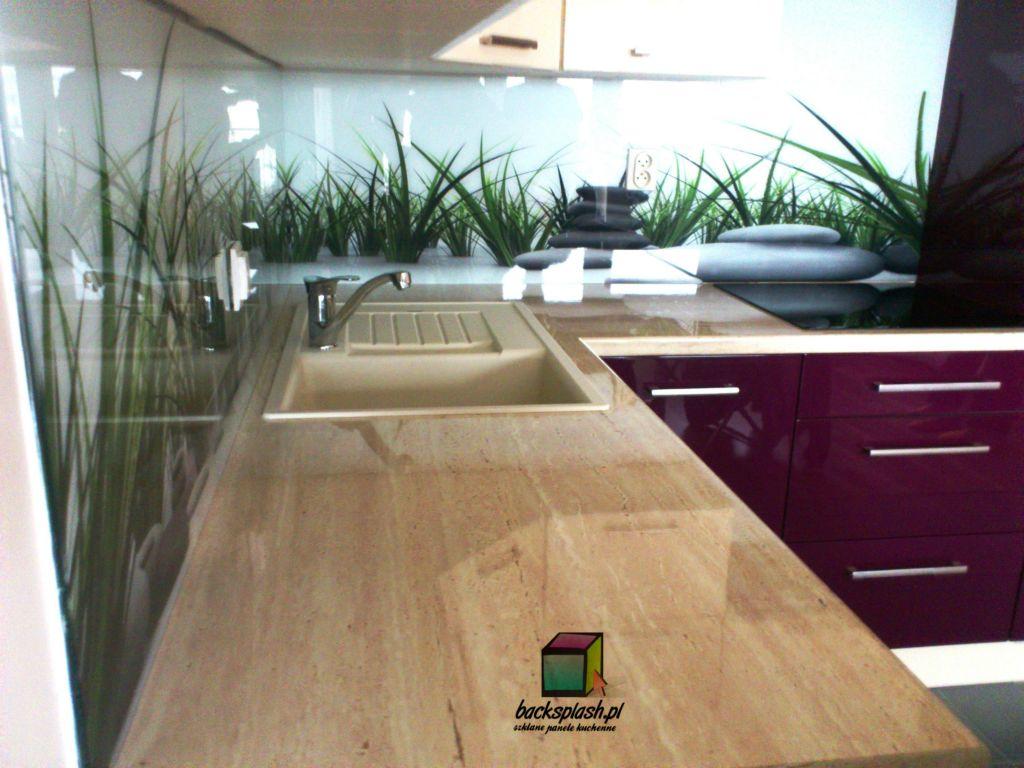 panele szklane do kuchni trawa z kamieniami panele szklane. Black Bedroom Furniture Sets. Home Design Ideas