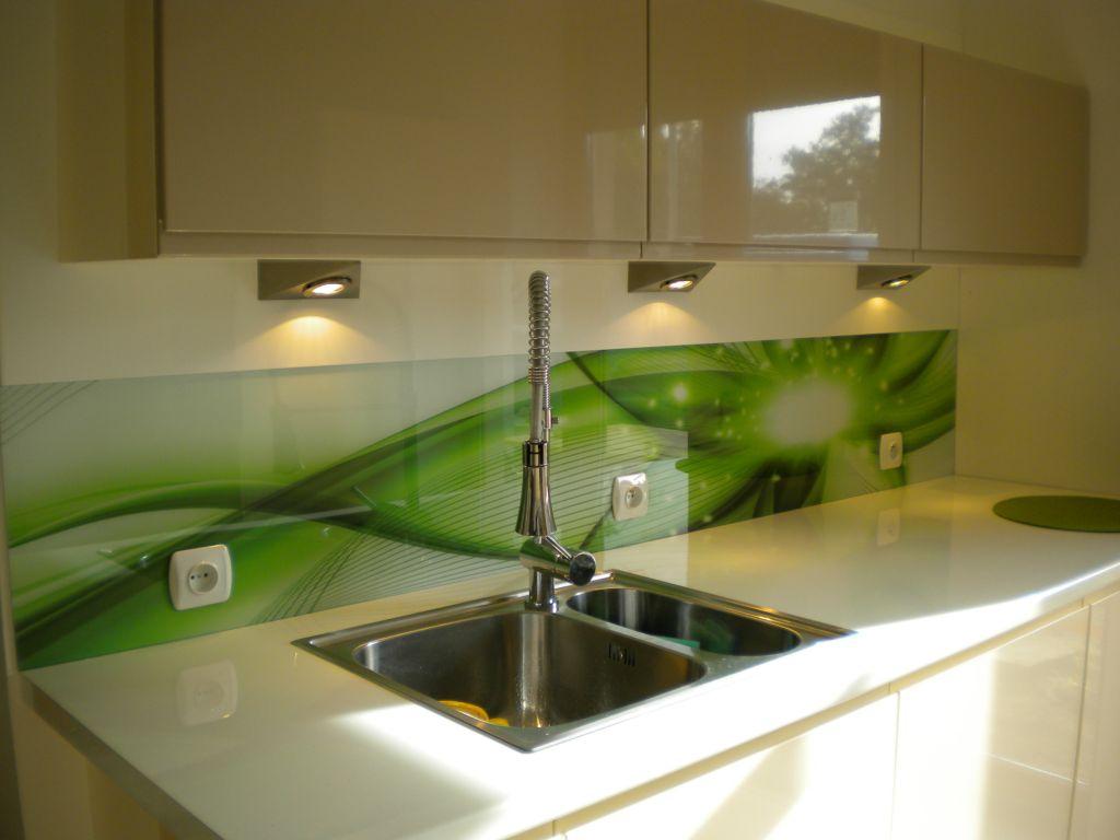 Szkło Do Kuchni Panele Szklane Kuchenne Piękna Zielona